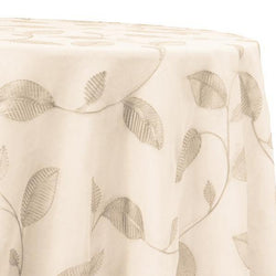 Birch Leaf Table Linen in Ivory