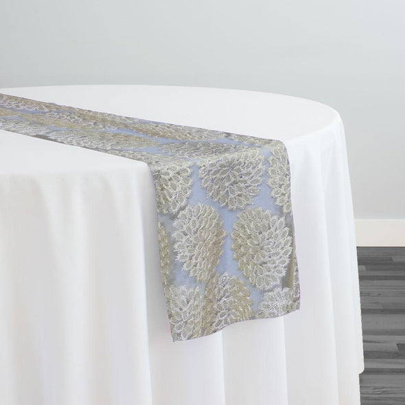 Dahlia Sequins Table Runner in Ivory