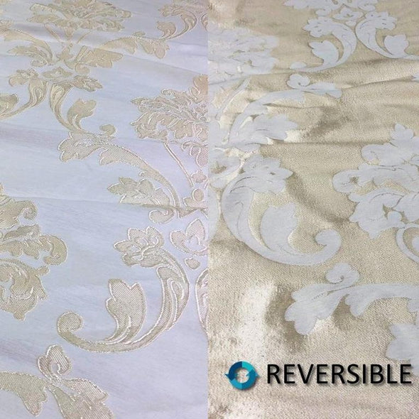 Madison Jacquard (Reversible) Table Runners in Ivory