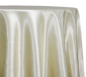 Shantung Satin (Reversible) Table Linen in Ivory