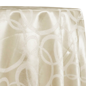 Cirque Jacquard (Reversible) Table Linen in Ivory