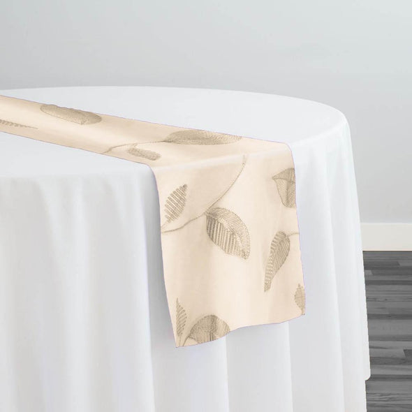 Birch Leaf Table Runner in Ivory