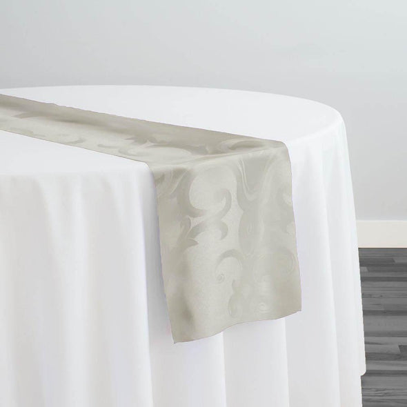 Chopin Jacquard Table Runner in Ivory