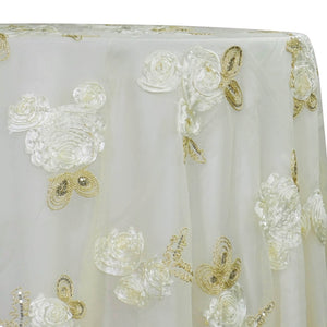 Posh Collection Table Linen in Ivory