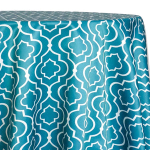 Gatsby Print (Lamour) Table Linen in Jade