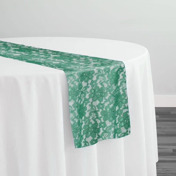 Classic Lace Table Runner in Jade 2000