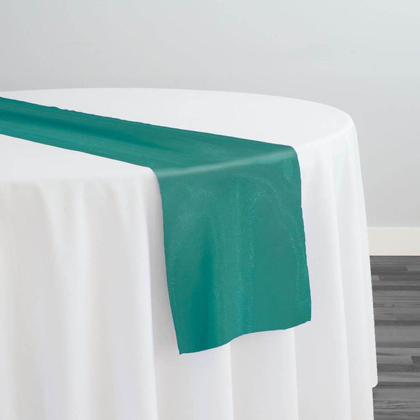 Crystal Organza Table Runner in Jade 390
