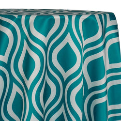 Groovy Print (Lamour) Table Linen in Jade