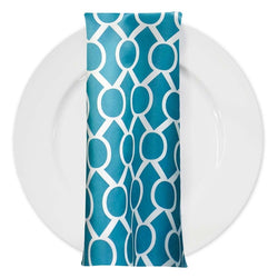 Halo Print Lamour Table Napkin in Jade