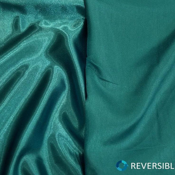 Shantung Satin (Reversible) Table Linen in Jade