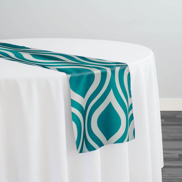 Groovy Print (Lamour) Table Runner in Jade