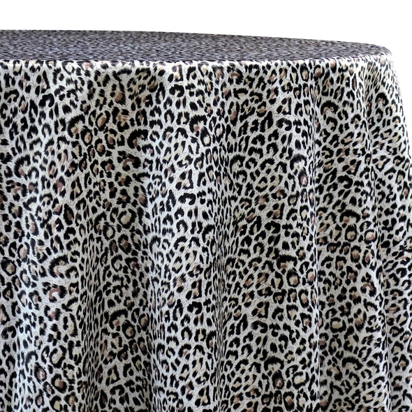 Animal Print Table Linen in Jaguar