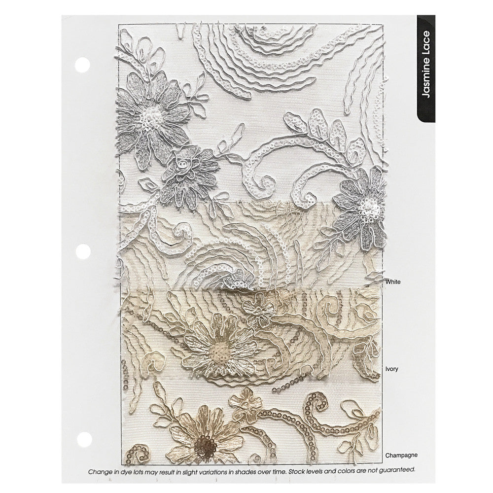 Jasmine Lace Color Card