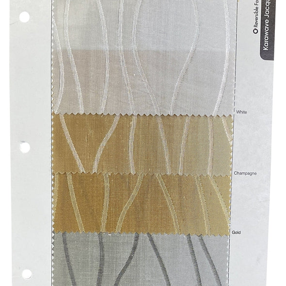Karawave Jacquard (Reversible) Table Runner in Gold