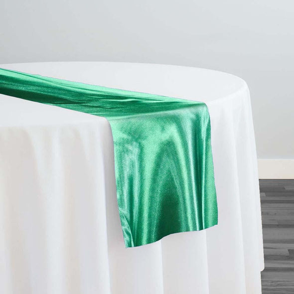 Bridal Satin Table Runner in Kelly Green 116
