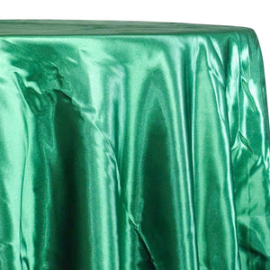 Bridal Satin Table Linen in Kelly Green 116