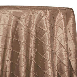 "2"" Pintuck Taffeta Table Linens in Khaki 006"
