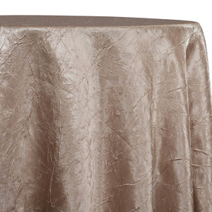 Crush Satin (Bichon) Table Linen in Khaki 021
