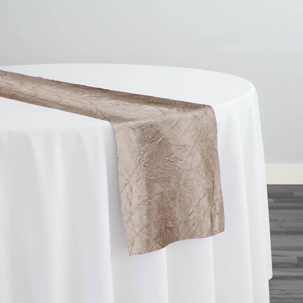 Crush Satin (Bichon) Table Runner in Khaki 021
