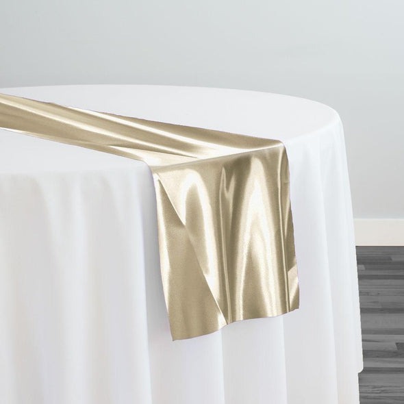 Bridal Satin Table Runner in Khaki 021
