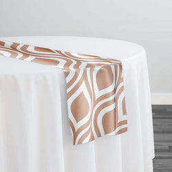 Groovy Print (Lamour) Table Runner in Khaki