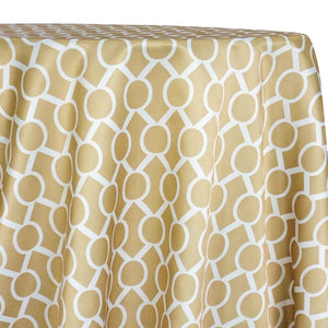 Halo Print (Lamour) Table Linen in Khaki