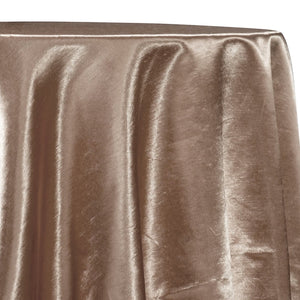 Shantung Satin (Reversible) Table Linen in Khaki