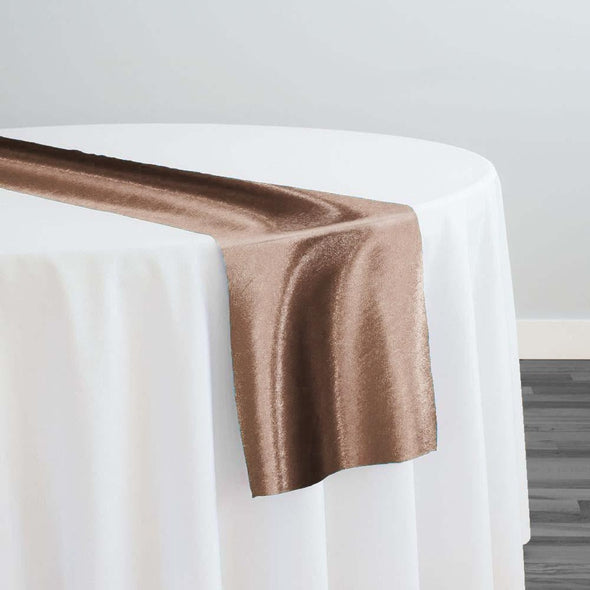 Shantung Satin Table Runner in Khaki