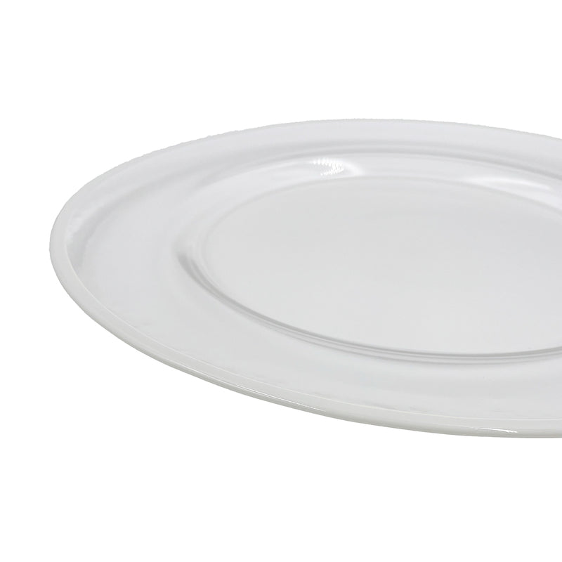 Klasik - Glass Charger Plate in White