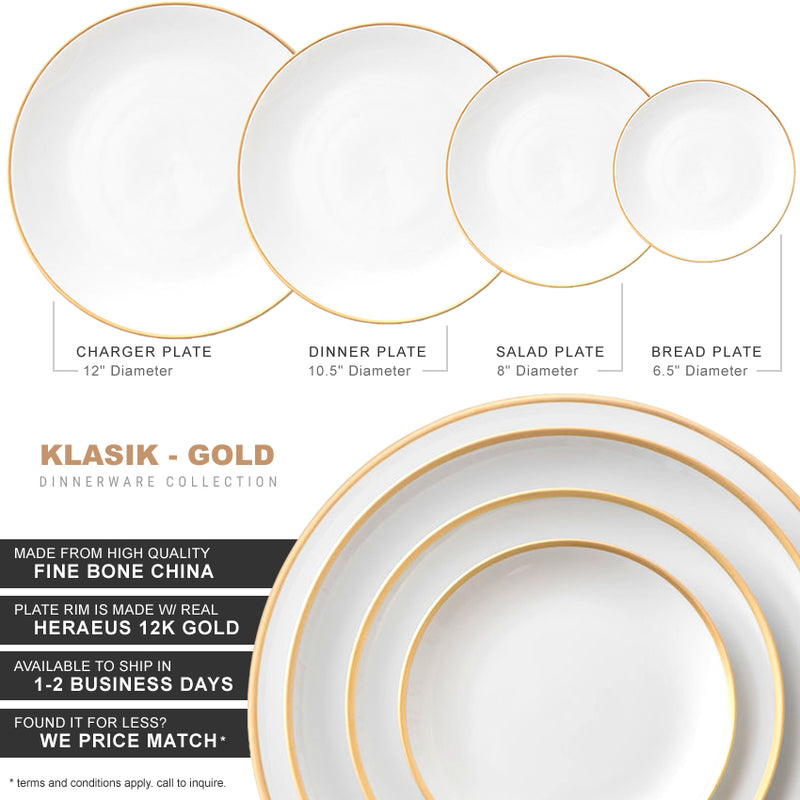 Klasik Collection in White/Gold