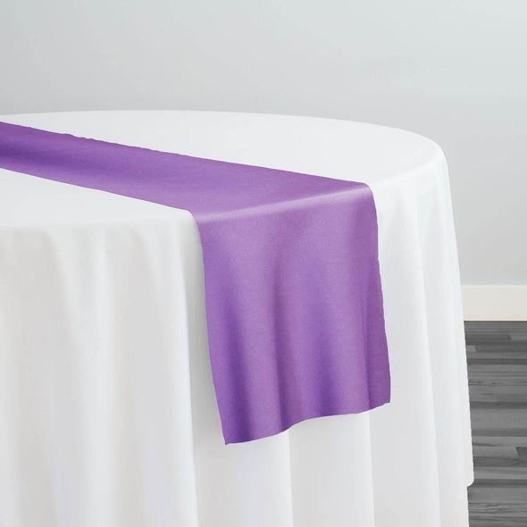 Lamour (Dull) Satin Table Runner in Lavender 1172