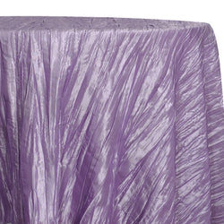 Accordion Taffeta Table Linen in Lavender