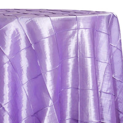 "4"" Pintuck Taffeta Table Linen in Lavender 119"