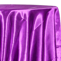 Bridal Satin Table Linen in Lavender 169