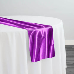 Bridal Satin Table Runner in Lavender 169