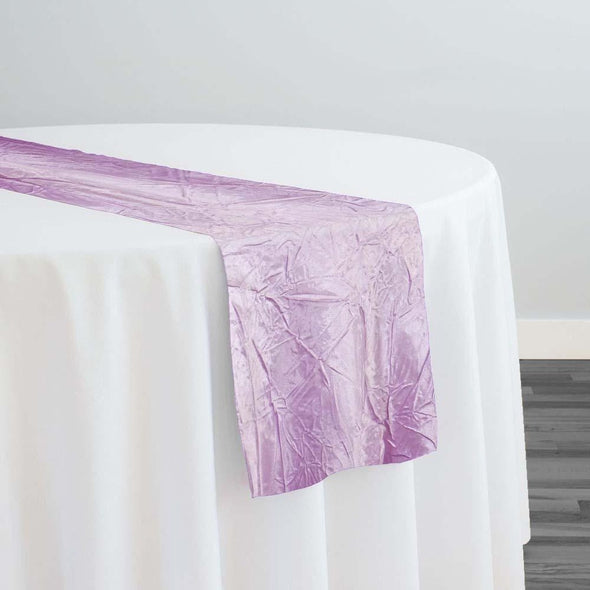 Crush Satin (Bichon) Table Runner in Lavender 468