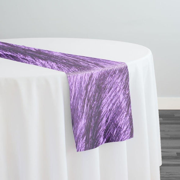 Accordion Taffeta Table Runner in Lavender