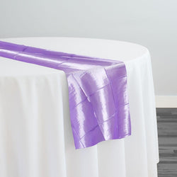 "4"" Pintuck Taffeta Table Runner in Lavender 119"