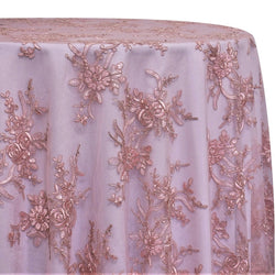 Laylani Lace Table Linen in Dusty Rose