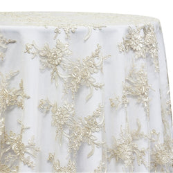 Laylani Lace Table Linen in Ivory