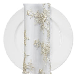 Laylani Lace (w/ Poly Lining) Table Napkin in Ivory