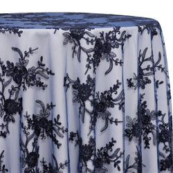 Laylani Lace Table Linen in Navy
