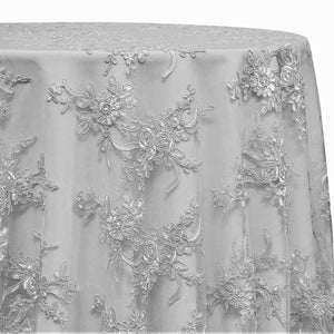 Laylani Lace Table Linen in White