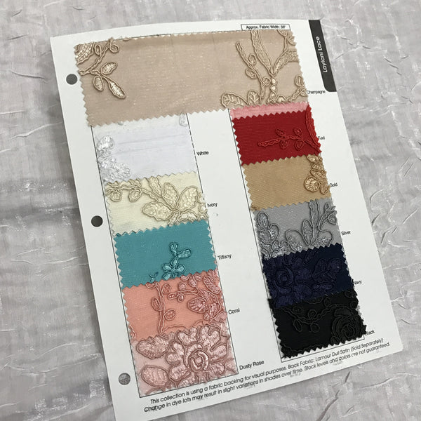Laylani Lace Color Card