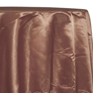 Bridal Satin Table Linen in Light Brown 051