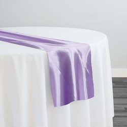 Bridal Satin Table Runner in Lilac 140