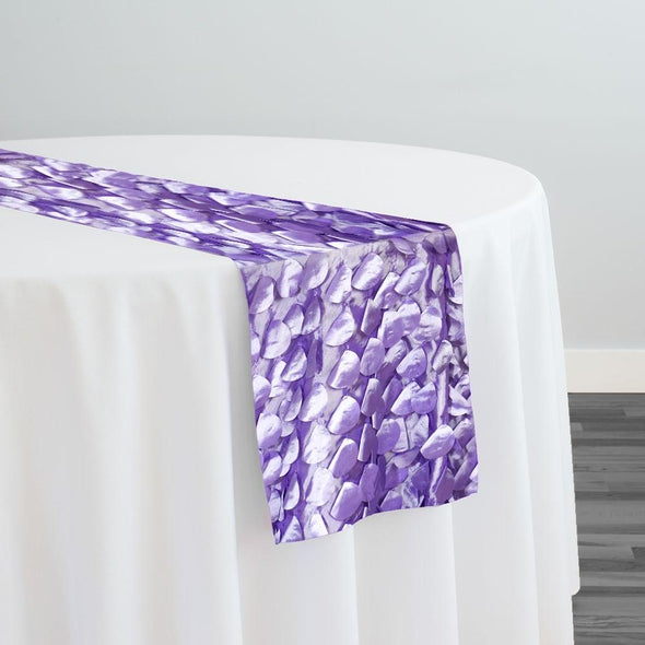 Funzie (Circle Hanging) Taffeta Table Runner in Lilac