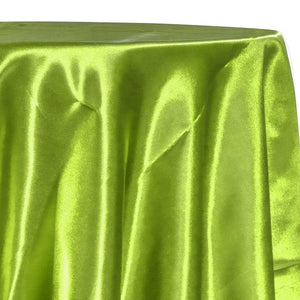 Bridal Satin Table Linen in Lime 37