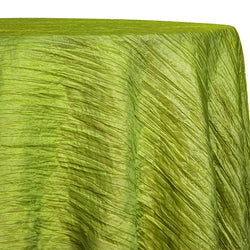 Accordion Taffeta Table Linen in Lime
