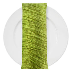 Accordion Taffeta Table Napkin in Lime